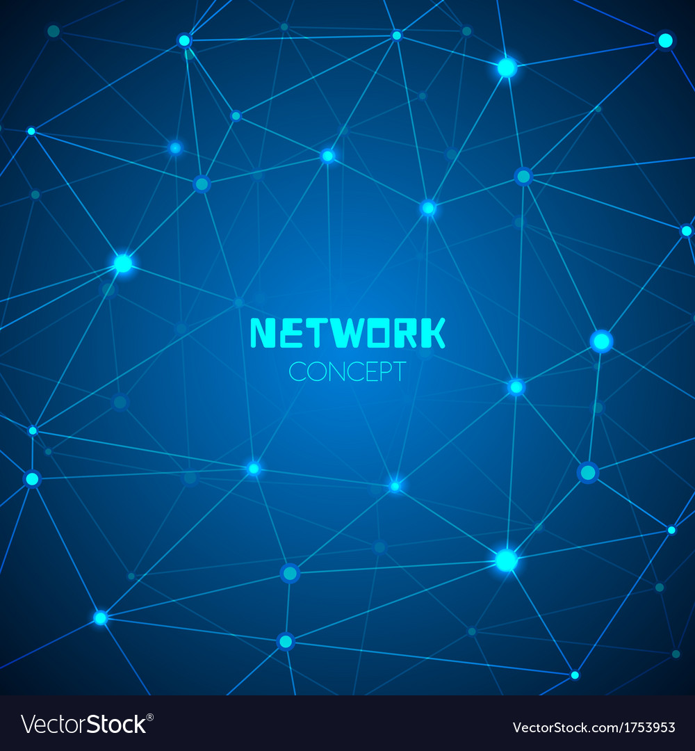 Abstract technology network concept vector