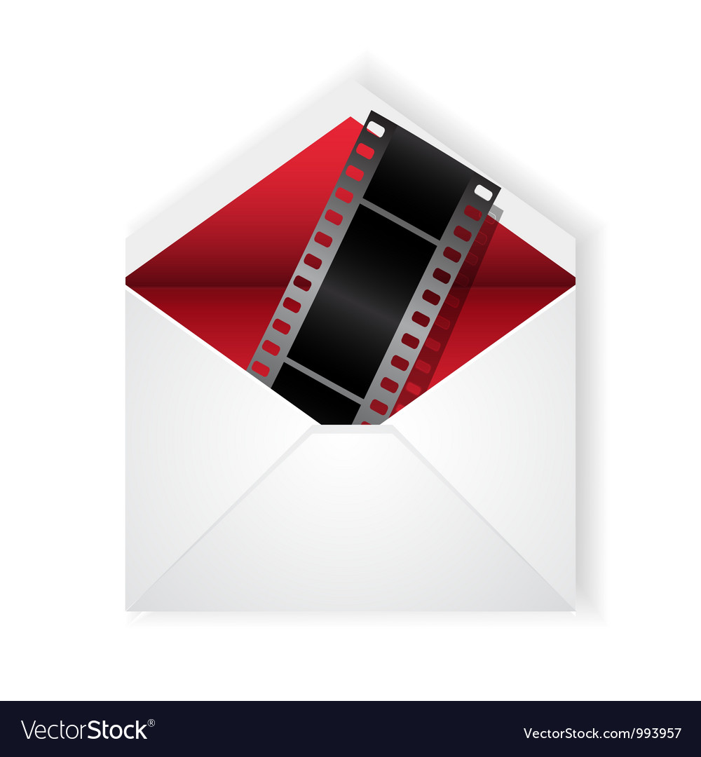 Film strip in envelope vector