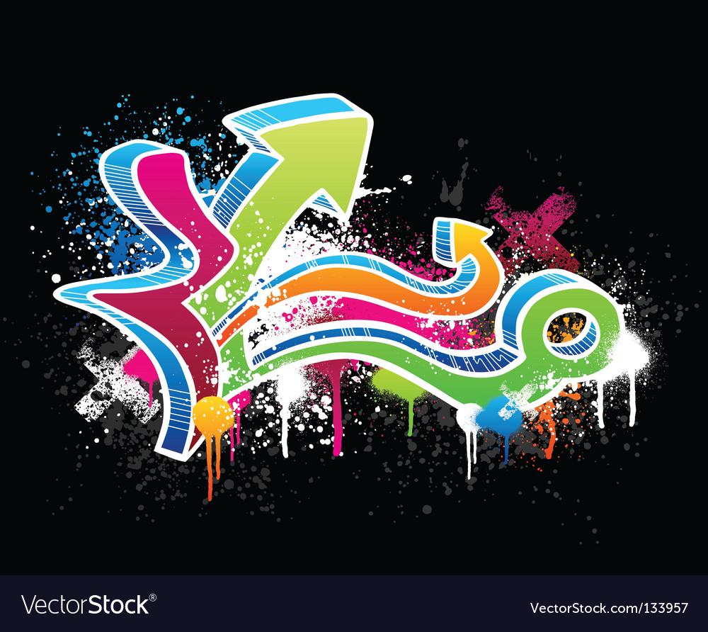 Graffiti sketch vector