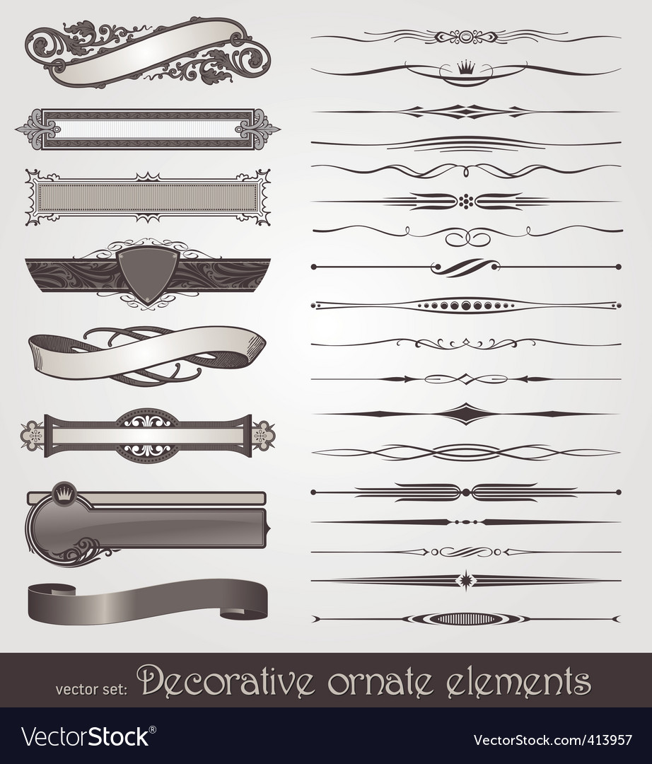 ornate design elements vector