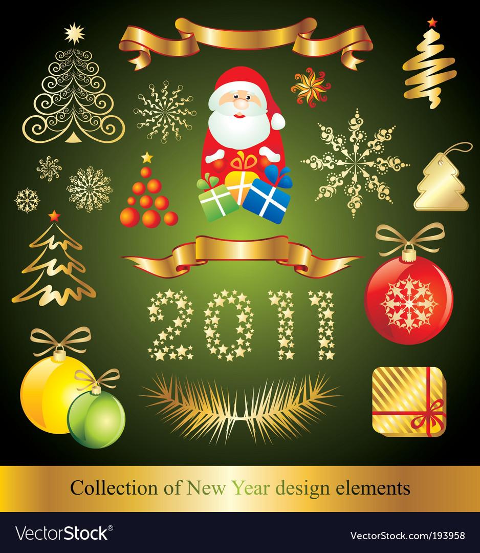Celebration design elements vector