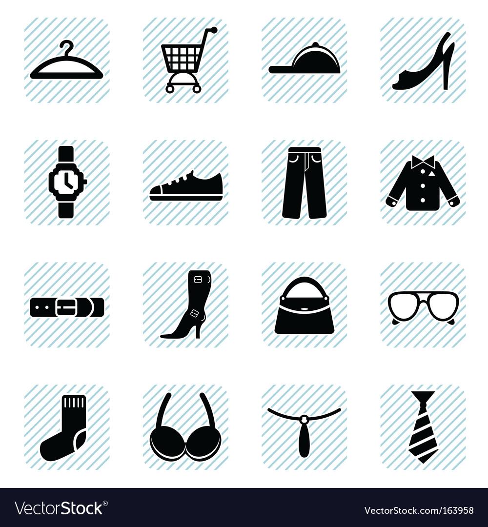 Fashion icons set vector