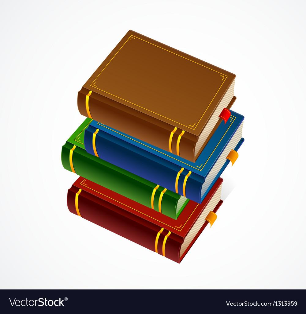 Books stack icon vector