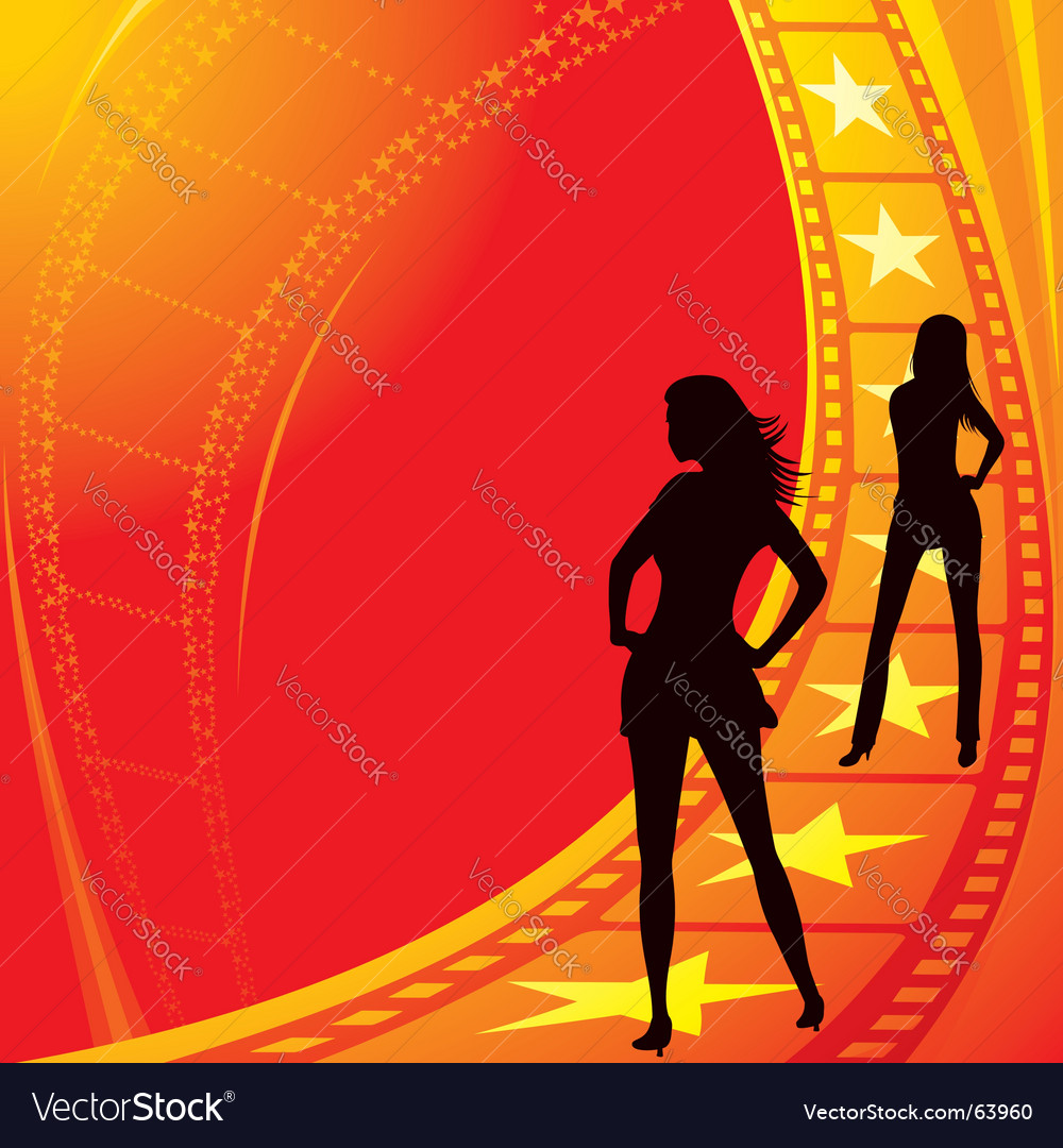 Movie stars vector