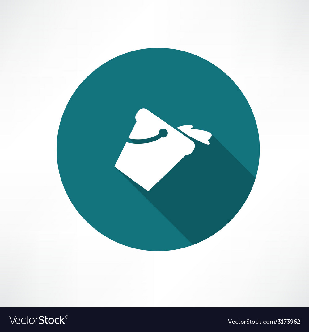 A bucket of water icon vector