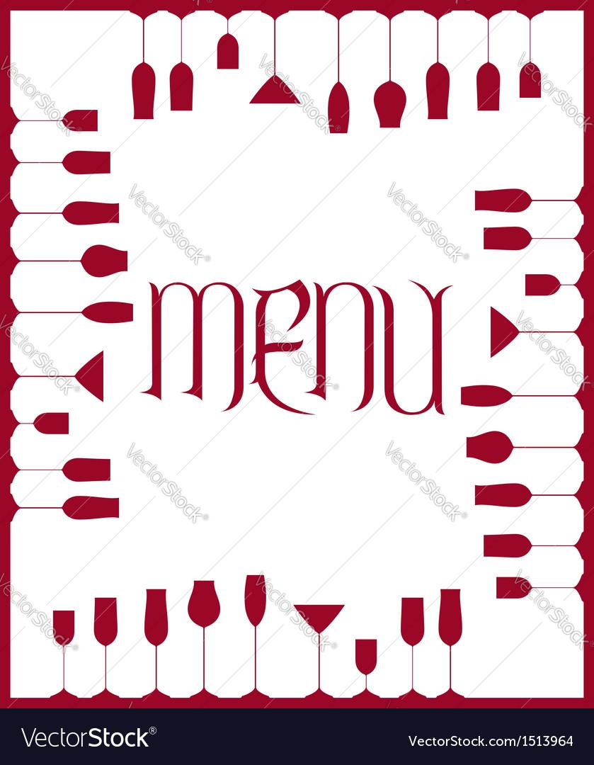 Bar menu background vector
