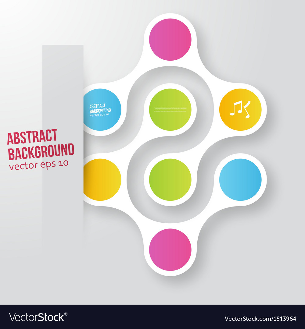 Color circles infographic color molecule vector
