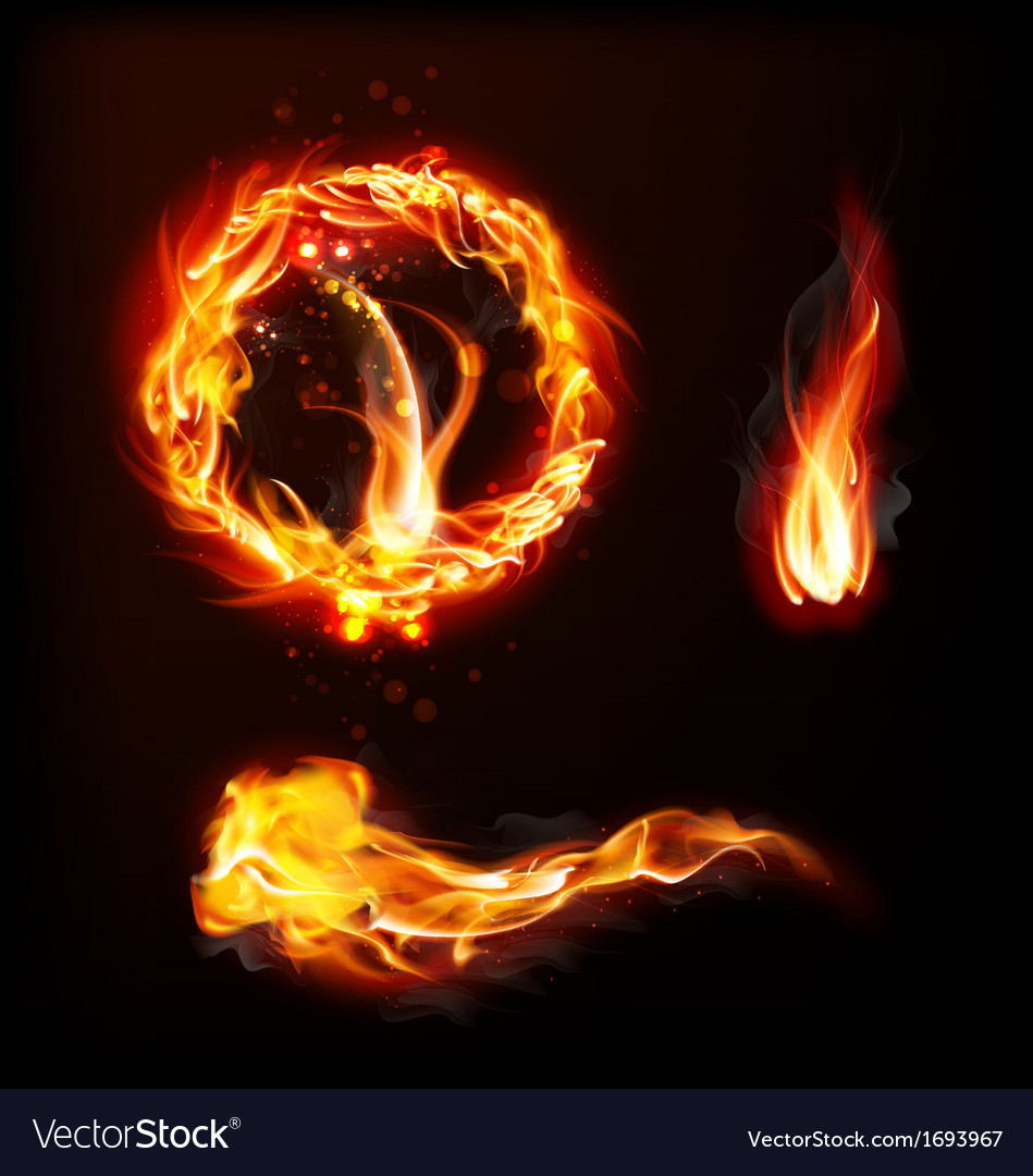 Abstract fire vector