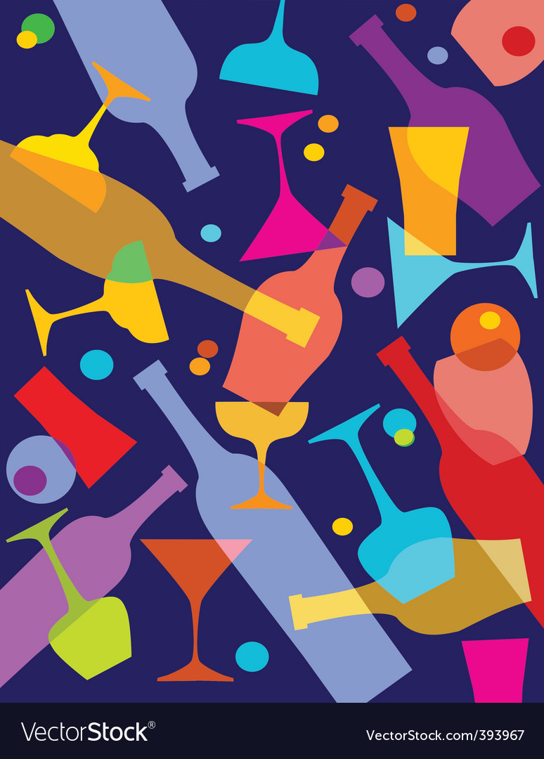 Wine and alcohol vector