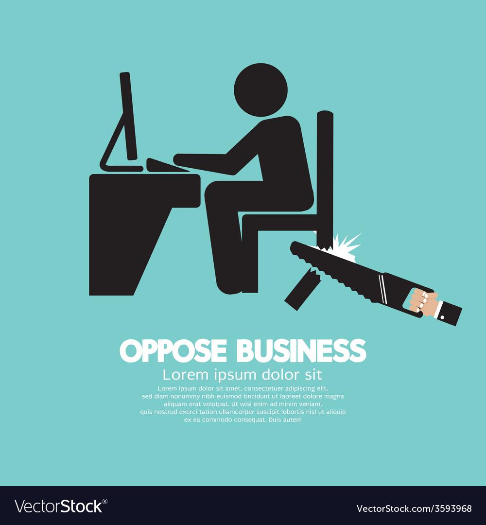 Oppose business black symbol vector