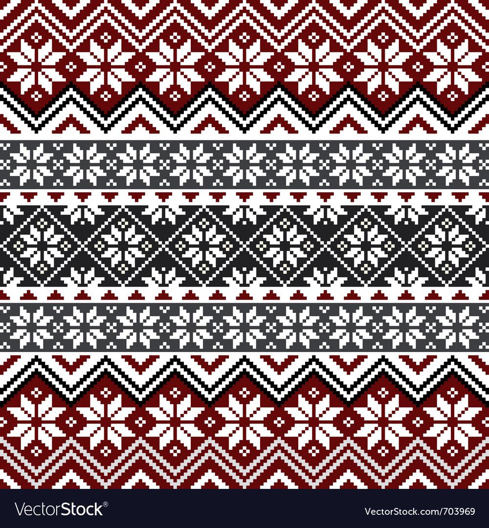 Nordic snowflake pattern vector