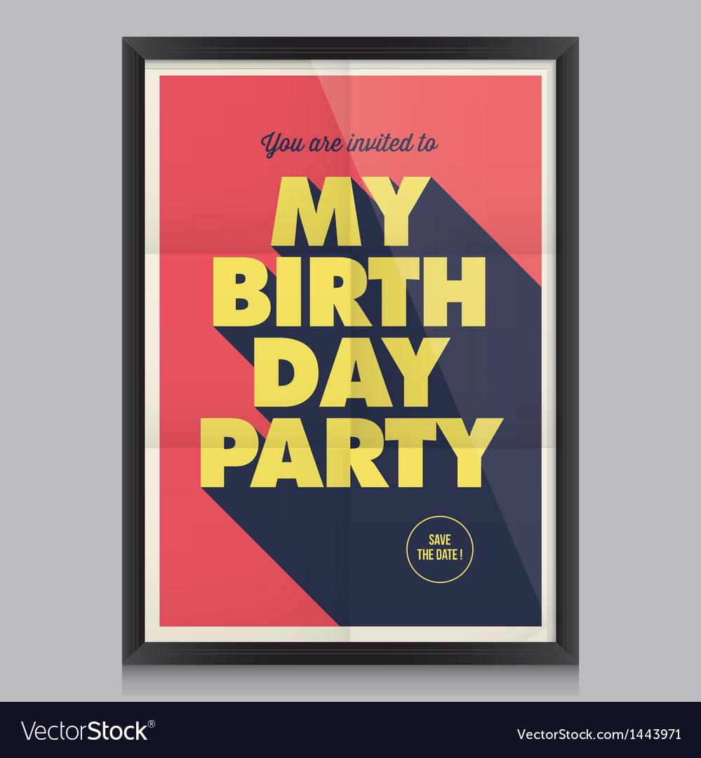 Happy birthday poster card vector