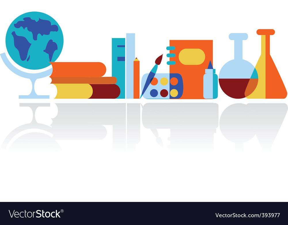 Education in classroom vector