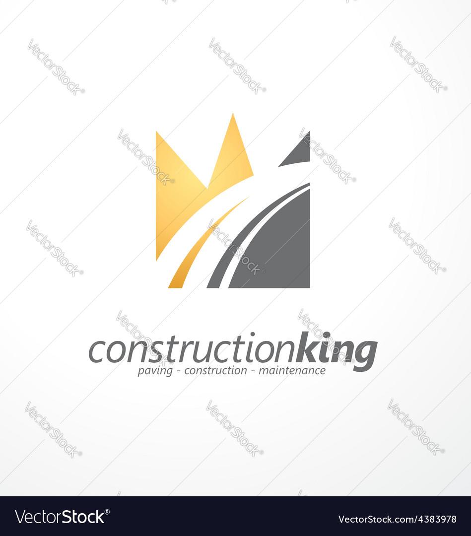 Road construction creative symbol layout vector