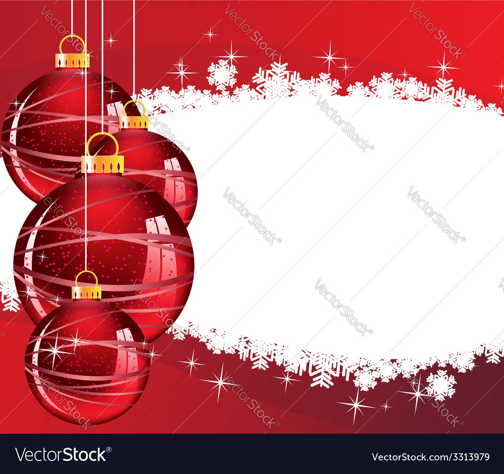 Red christmas decorations vector