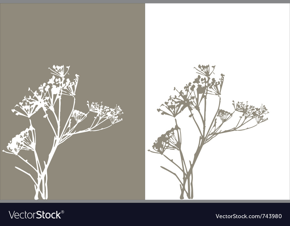 Grass silhouette nature vector