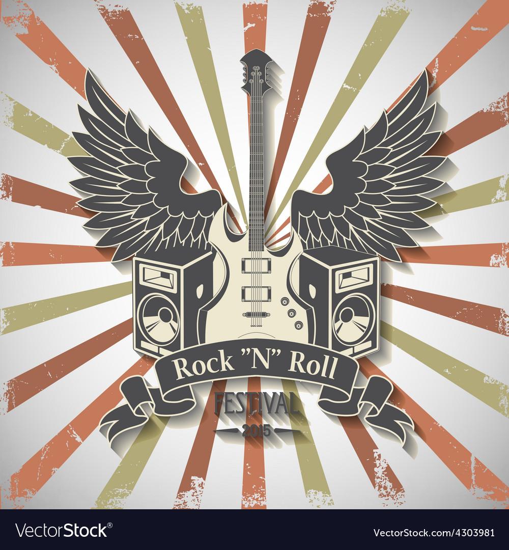 Symbol of rock festival vector
