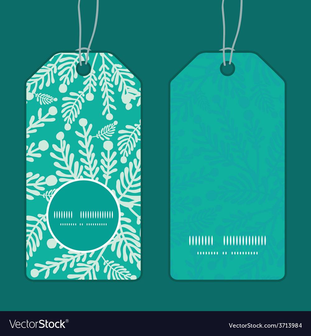 Emerald green plants vertical round frame vector