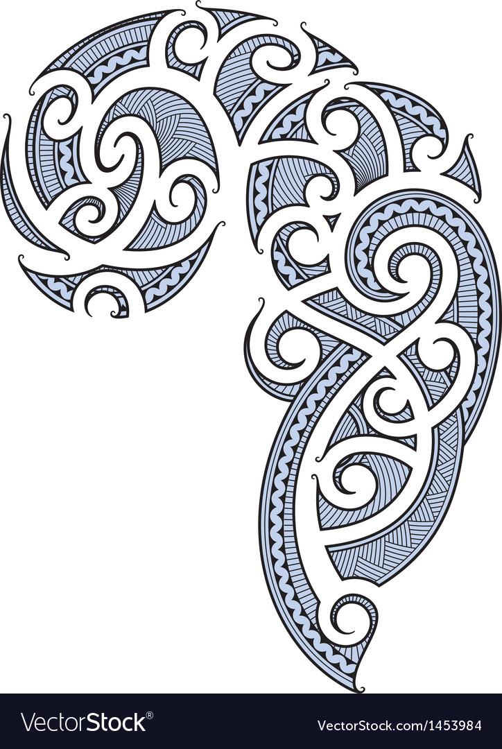 Maori tattoo design vector