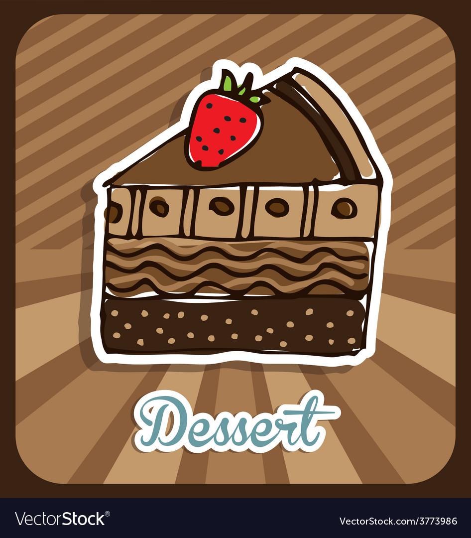 Delicious dessert vector