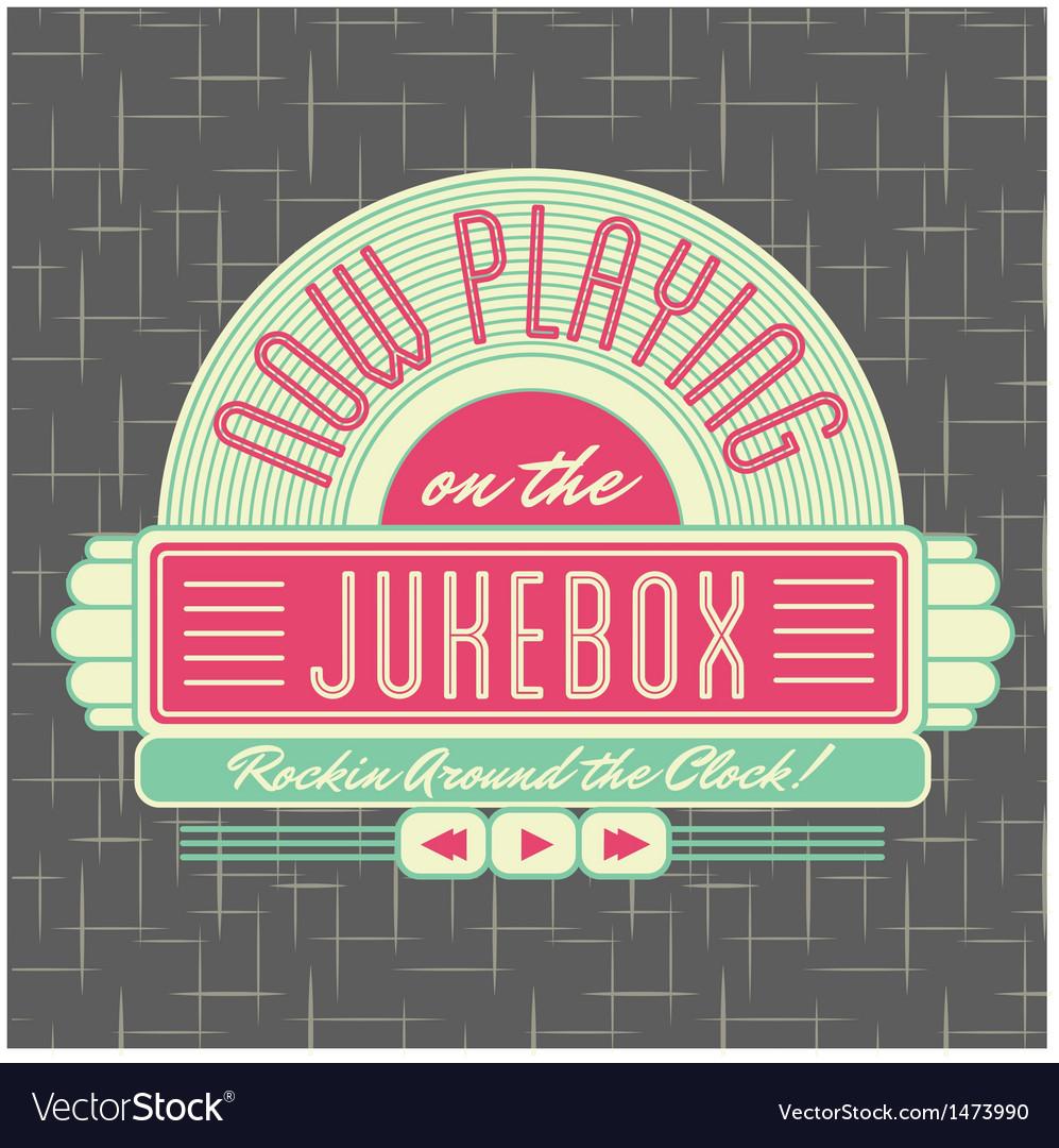 1950s jukebox style logo design vector