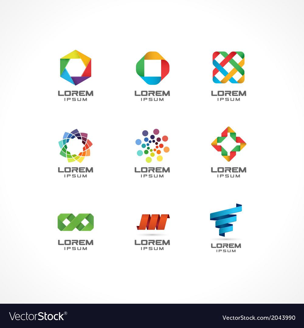 Set of icon design elements vector