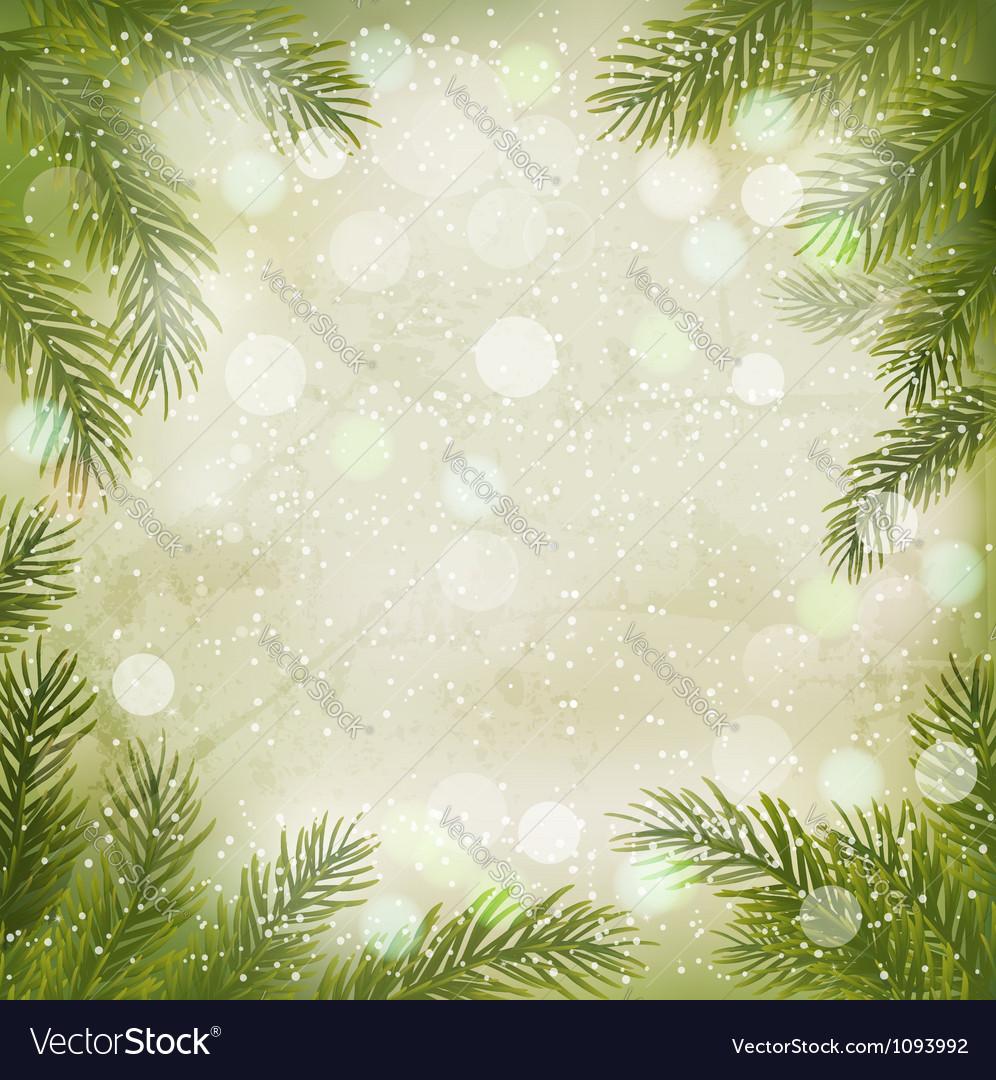 Christmas retro background vector