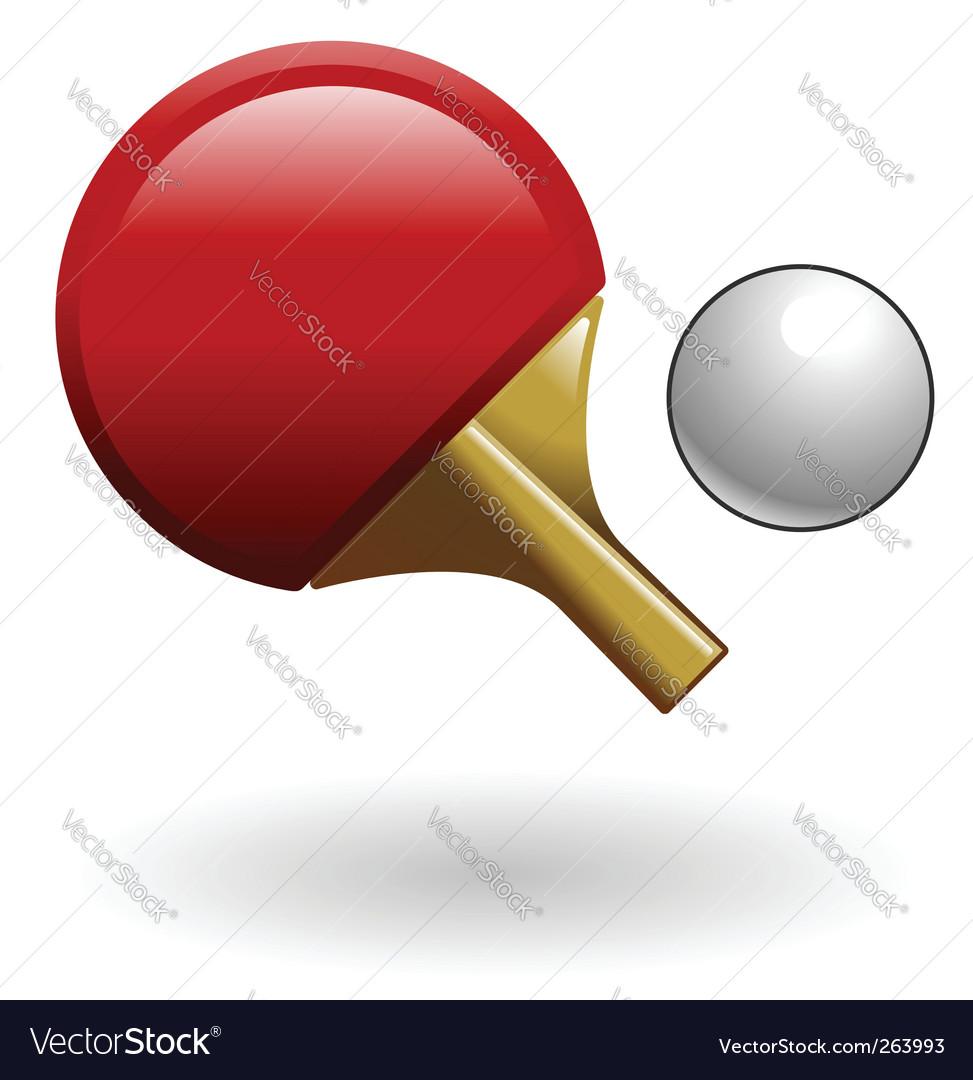 Ping pong illustration vector