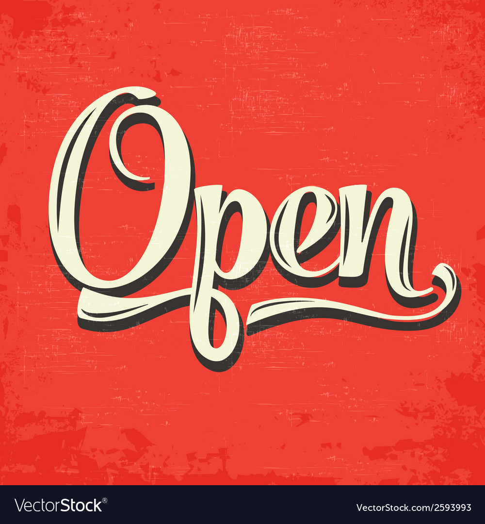 Retro-open-sign-vector