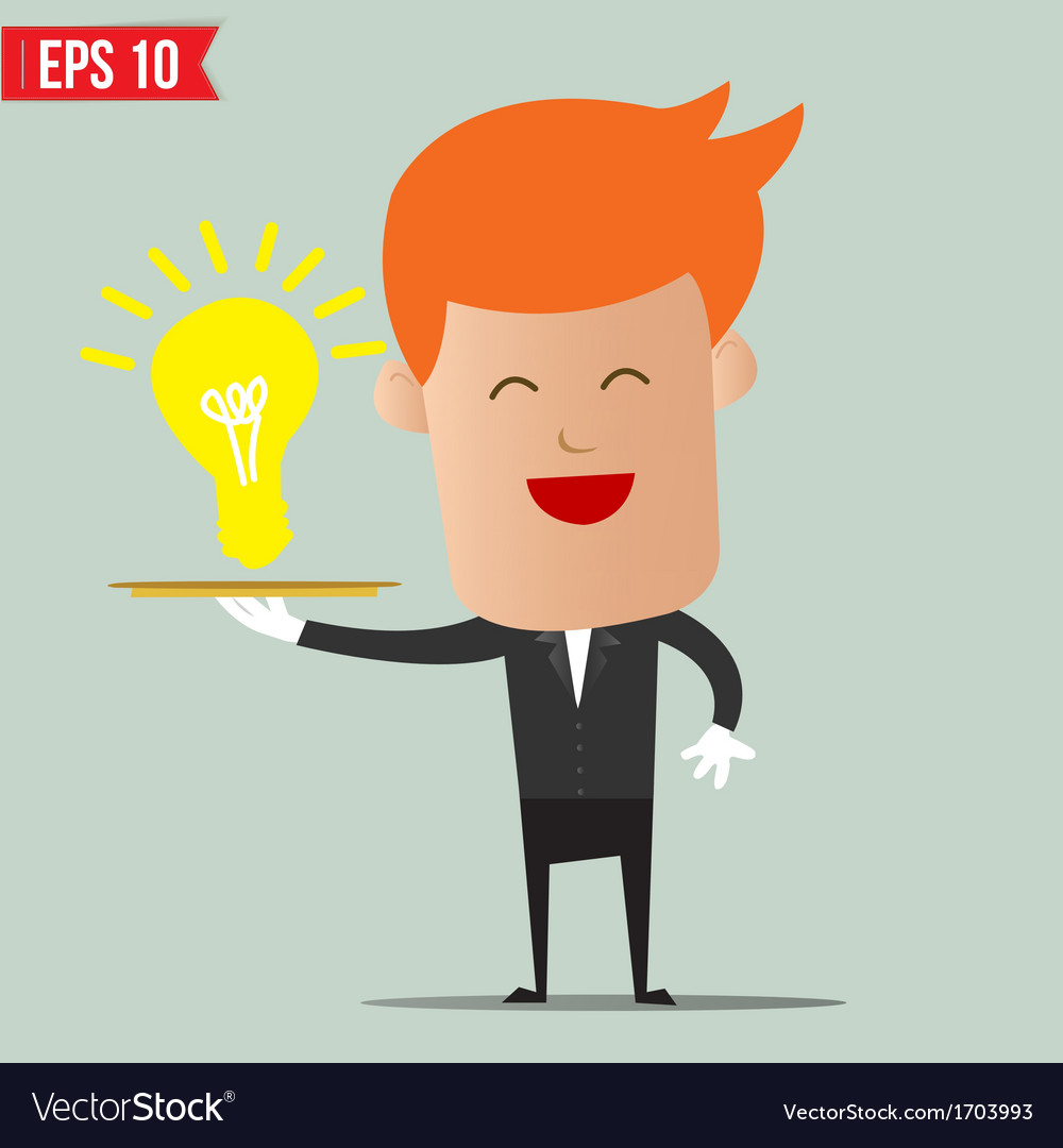 Waiter idea service - - eps10 vector