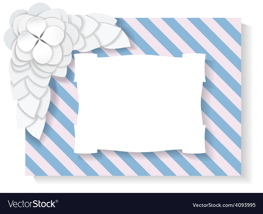 Flower petals are on a striped background vector