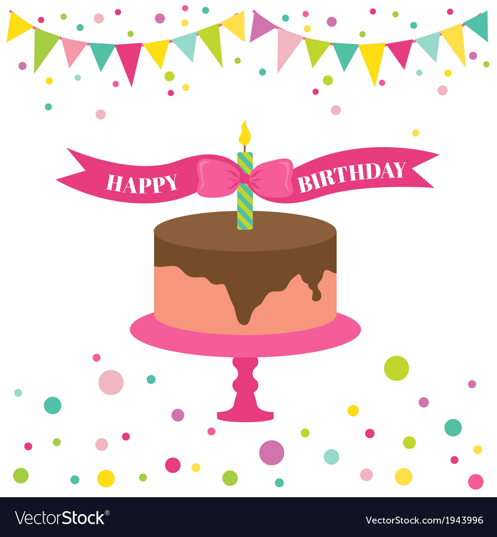 Happy birthday and party card vector