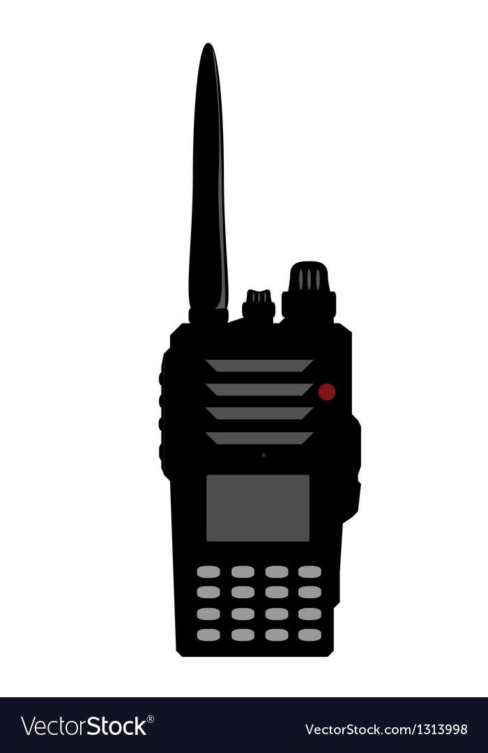 Walkie talkie or police radio or radio vector