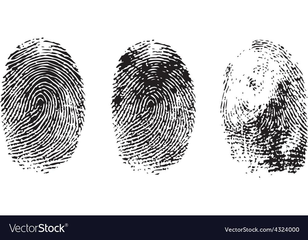 Different black fingerprints vector