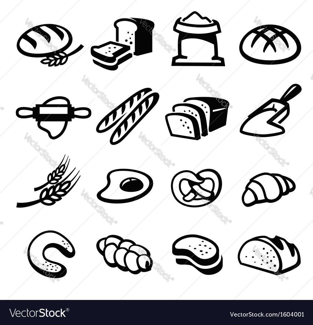 Bread icon vector