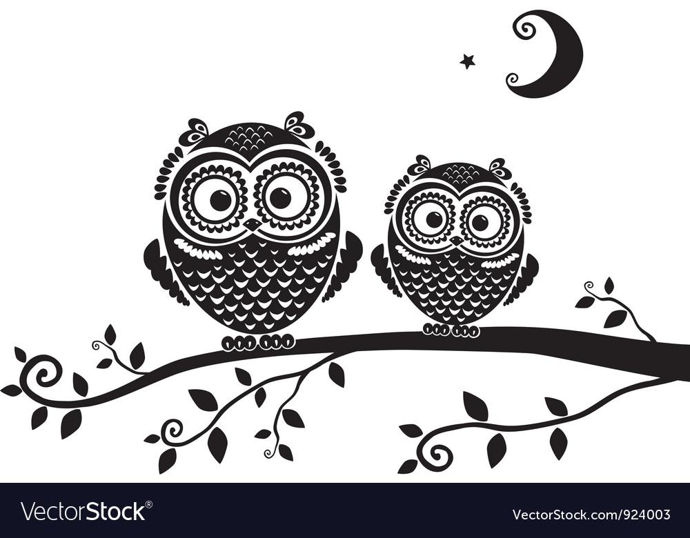 Owl black vector