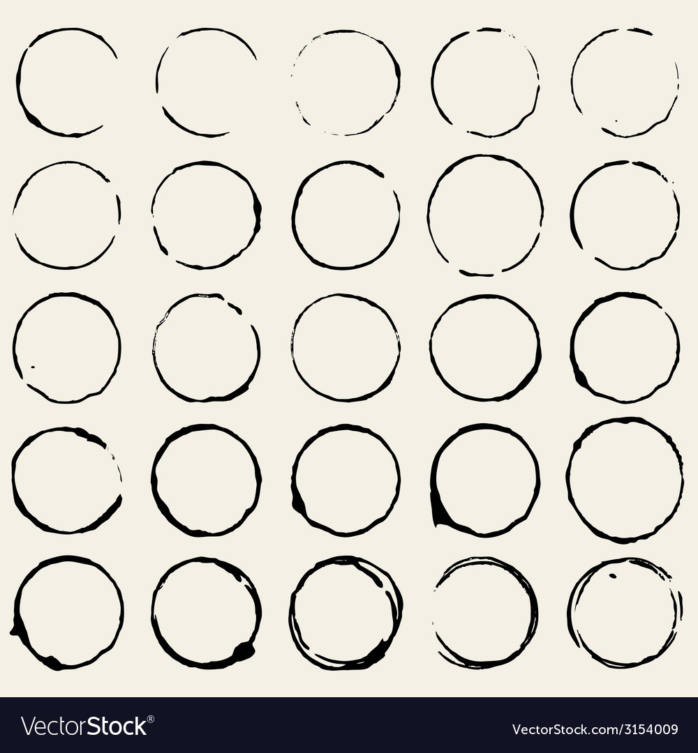 Circle stain vector