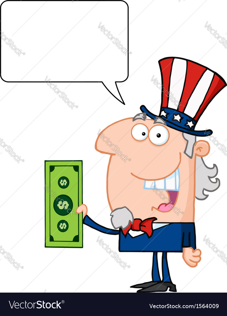 Uncle sam cartoon vector