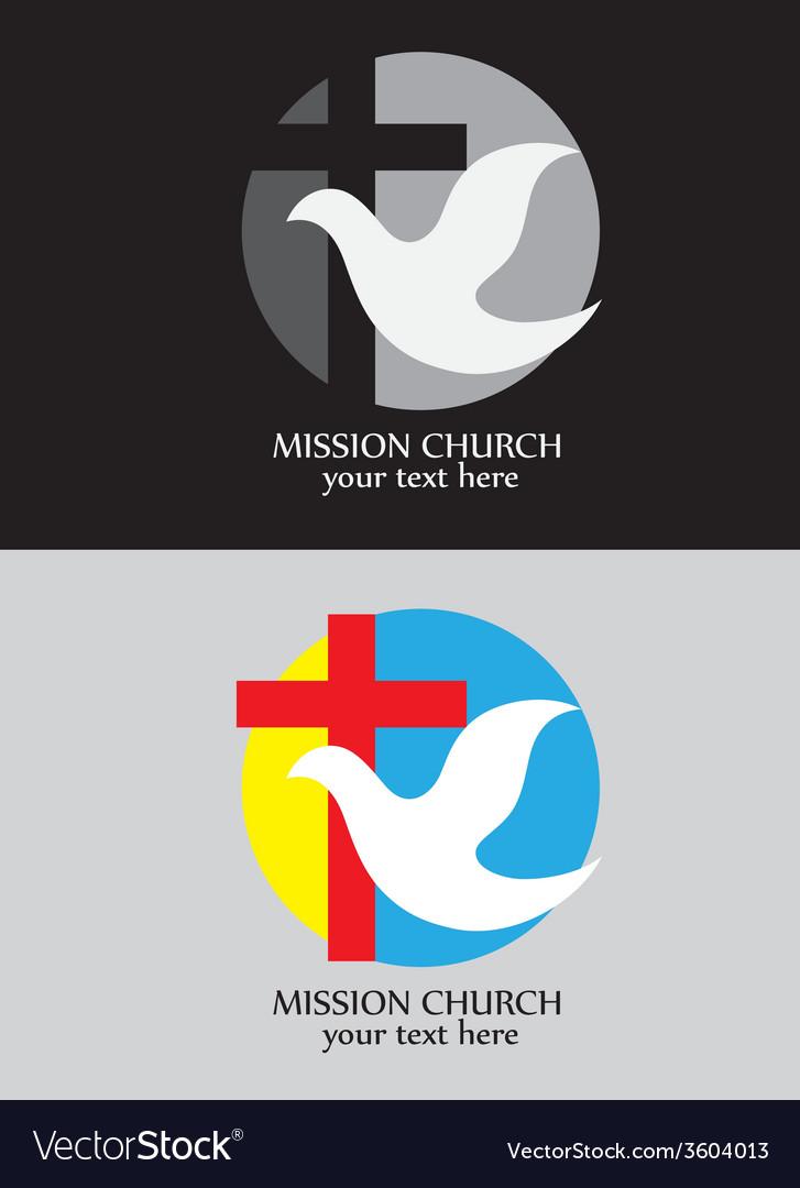 Mission church logo vector