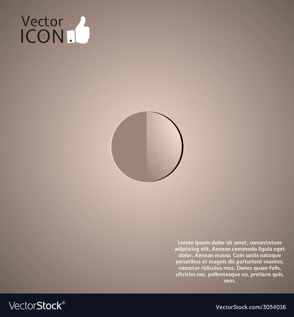 Recording icon on the background vector