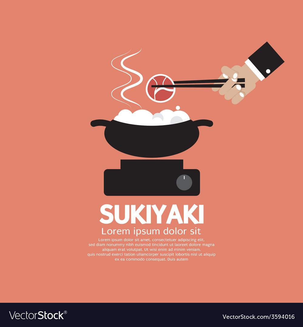 Sukiyaki japanese dish vector