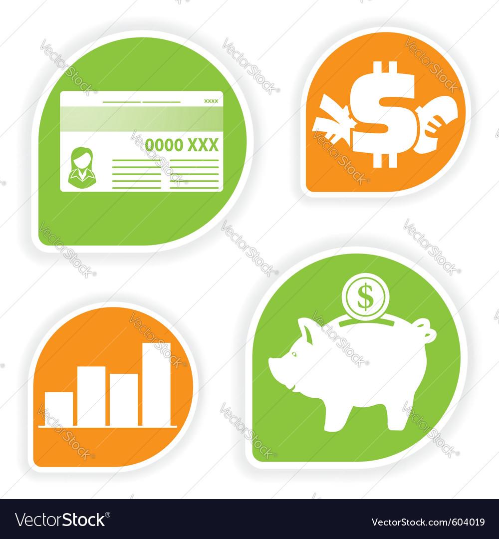 Business sticker vector
