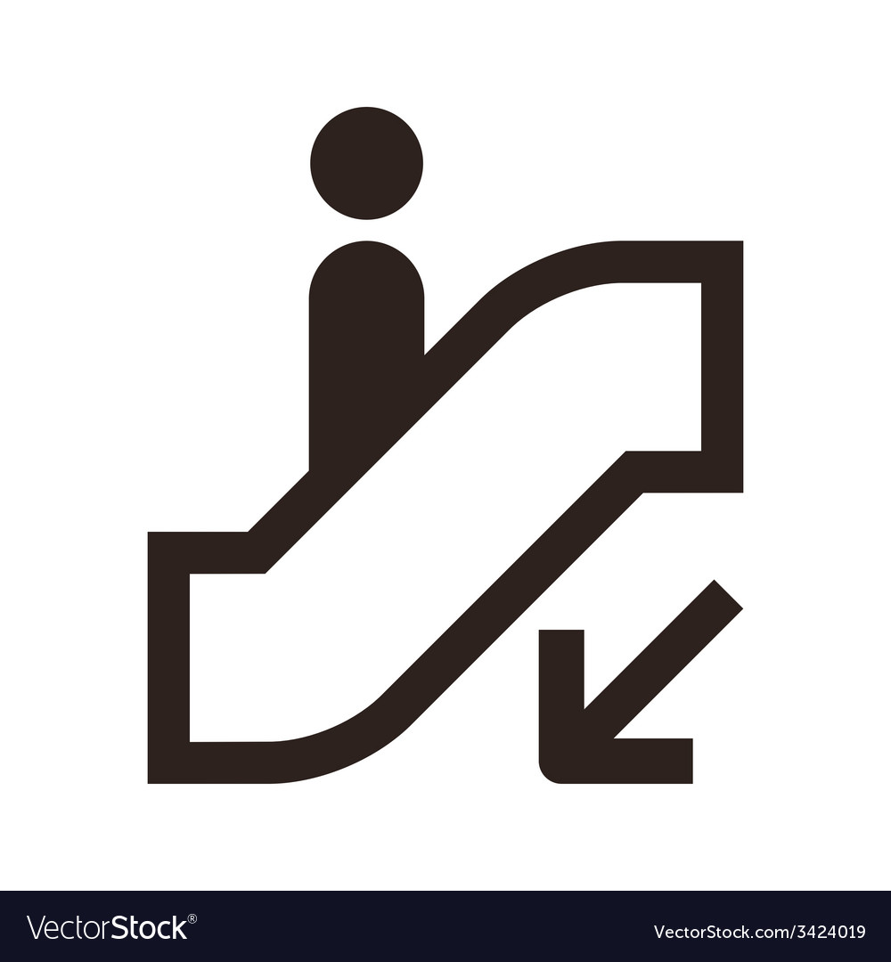 Escalator icon vector