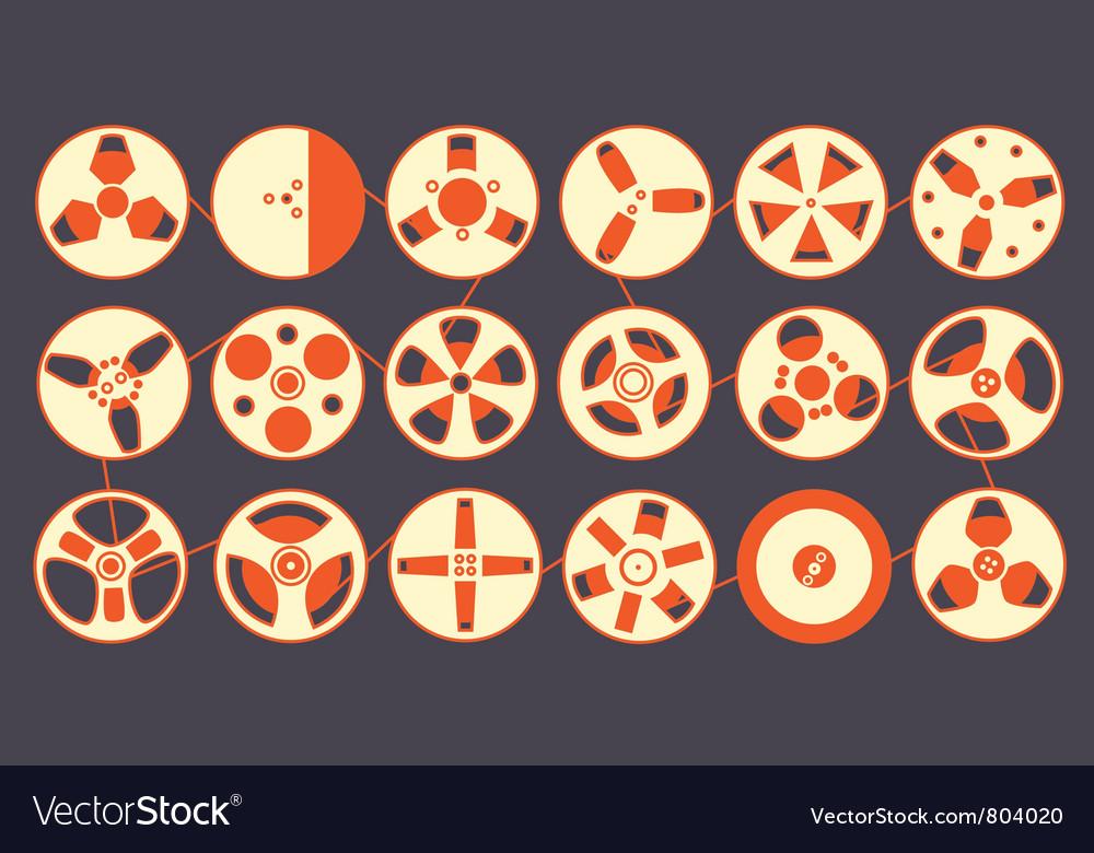 Recording reels vector