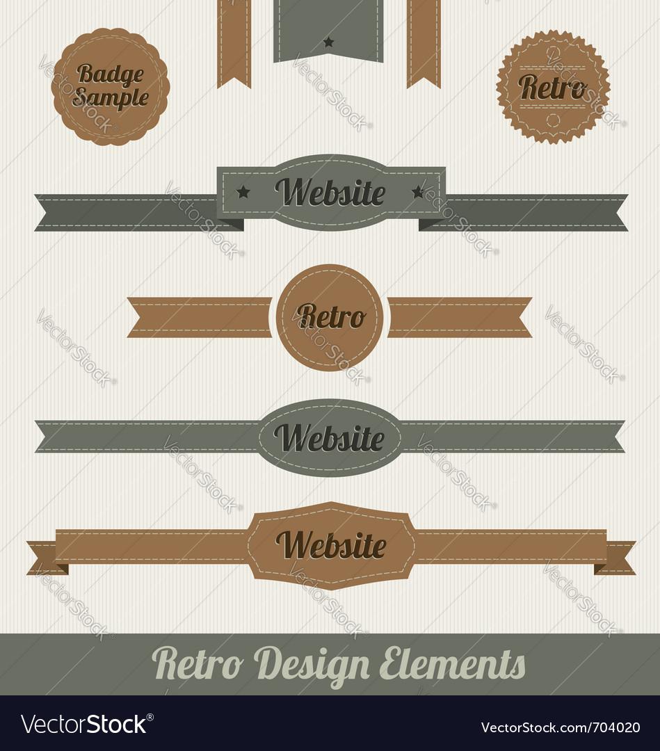Retro web elements vector