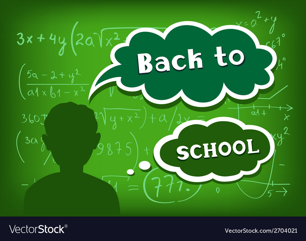 Back to school speech and thought vector