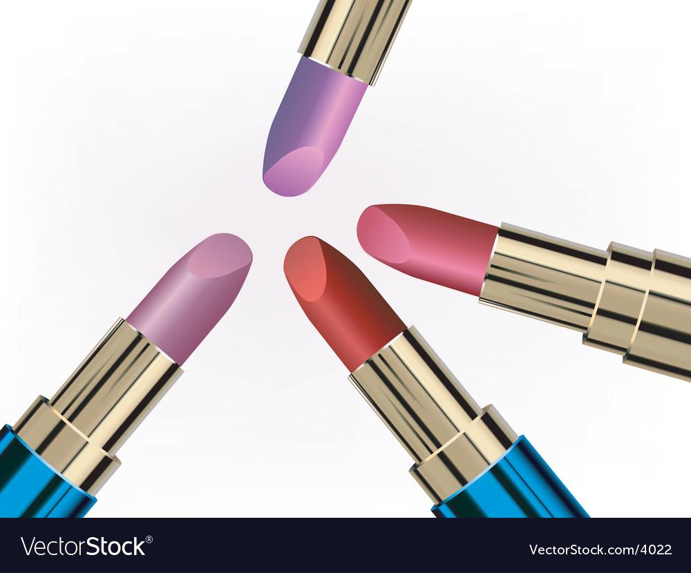 Glossy lipsticks vector