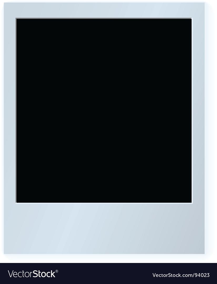 Polaroid card vector