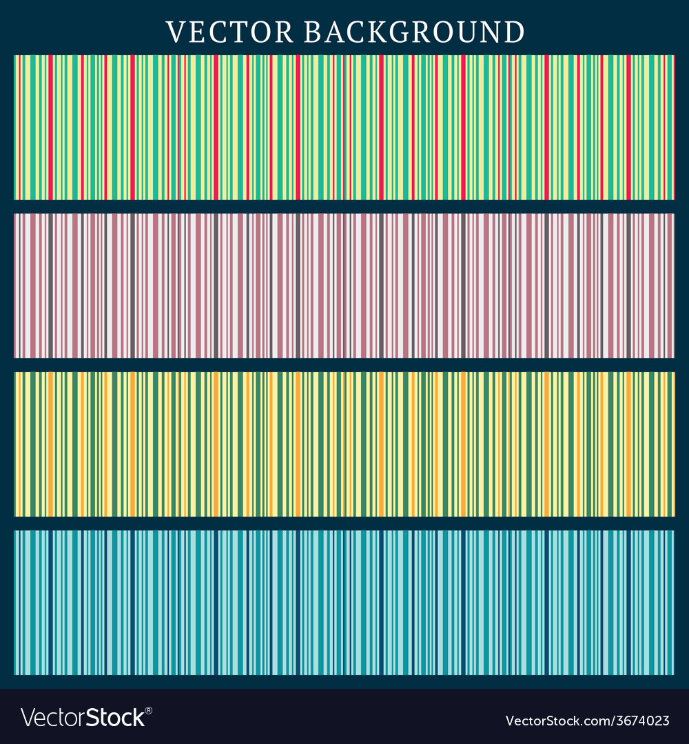 Set of seamless backgrounds stripped background in vector