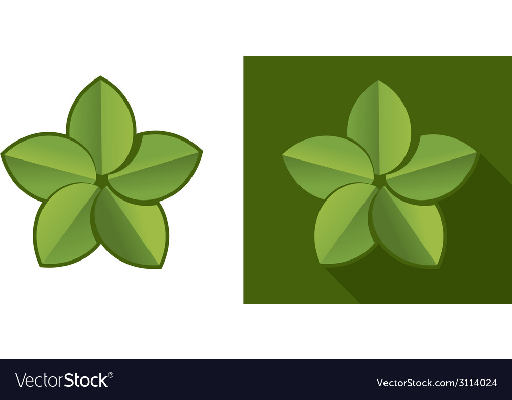 Eco leaf vector